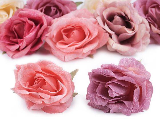 Umelý kvet ruže Ø7 cm