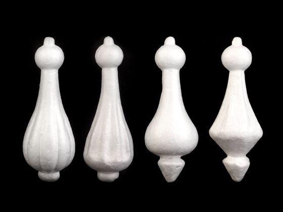 Vianočná baňka / vežička dĺžka 15 cm polystyrén