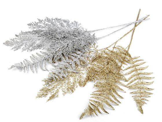 Vianočná vetvička / papradie s glitrami