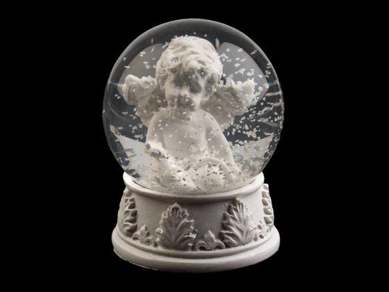 Vianočné snežítko s anjelom