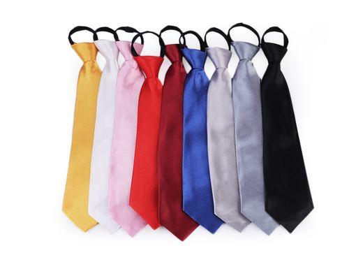 Saténová párty kravata jednofarebná