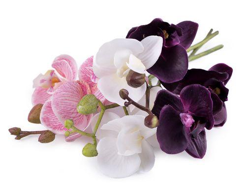 Umelá orchidea na aranžovanie 20 cm
