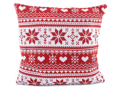 Vianočná obliečka na vankúš vločka 45x45 cm